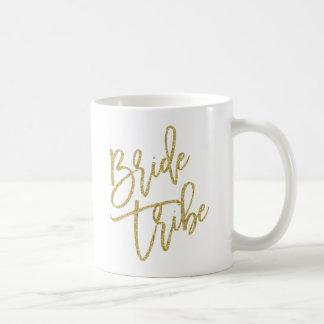 Bride Tribe Gold Glitter Script Coffee Mug