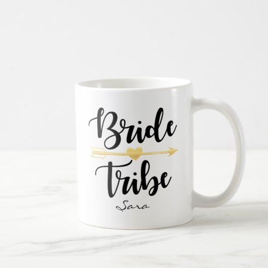 Bride Tribe Gold Wedding Custom-2 Coffee Mug
