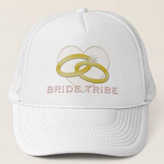 Bride Tribe   Gold Wedding Rings Heart Trucker Hat