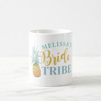 Bride Tribe Hen Party Bridal PINEAPPLE Aloha Luau Coffee Mug