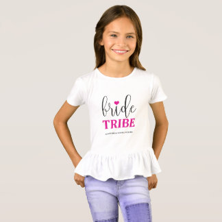 Bride Tribe Hot Pink Bridal Shirt for Flower Girl
