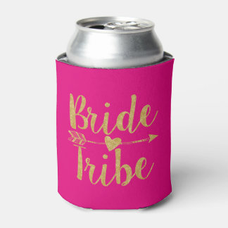 Bride Tribe | Hot Pink Can Cooler