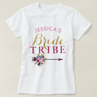 Bride Tribe Personalised Party Bridesmaids Tops