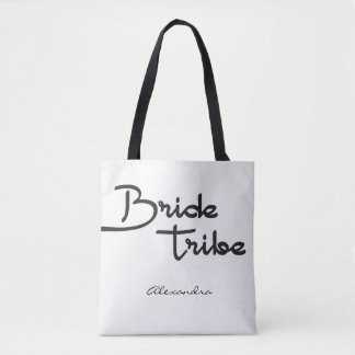 Bride Tribe, Personalized Name, bridesmaid gift Tote Bag