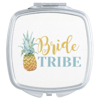 Bride Tribe Pineapple Bridesmaids Shower Wedding Makeup Mirrors