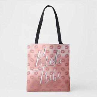 Bride Tribe Pink Kisses Bachelorette Party Bag