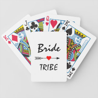 Bride Tribe Red Heart Arrow Bicycle Playing Cards