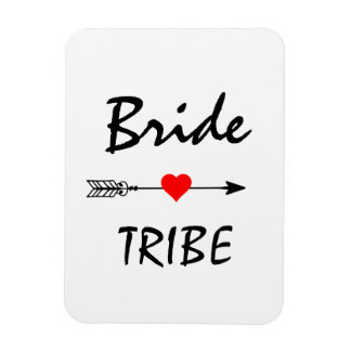 Bride Tribe Red Heart Arrow Magnet