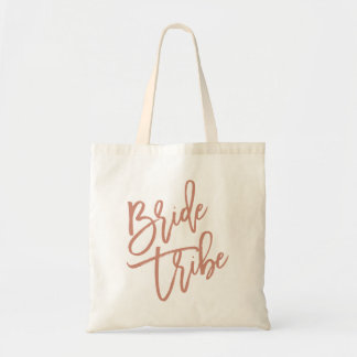 Bride Tribe Rose Gold Script Tote Bag