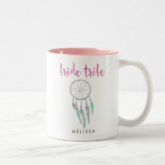 Bride Tribe Watercolor Dreamcatcher Bridesmaid Two-Tone Coffee Mug