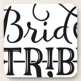Bride Tribe Wedding Party Beverage Coasters