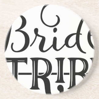 Bride Tribe Wedding Party Drink Coasters