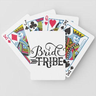Bride Tribe Wedding Party Poker Deck
