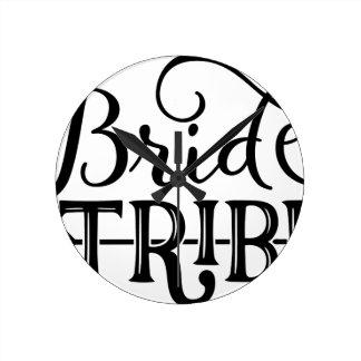 Bride Tribe Wedding Party Wall Clock