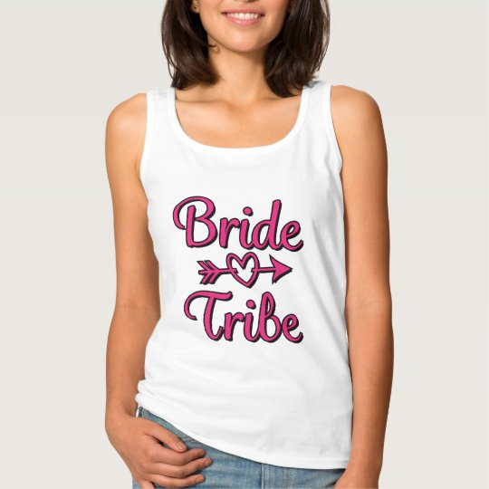 Bride Tribe with heart arrow Bridesmaid shirt