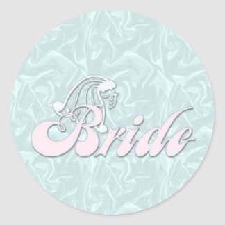 Bride Turquoise Silk Stickers
