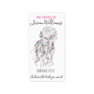 Bride Wavy hair floral wreath Hairstyling branding Label