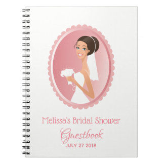 Bride Wedding Attire Bridal Shower Guestbook Notebook