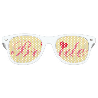 Bride Wedding Bachelorette Party Cool Retro Shades Party Shades