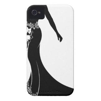 Bride Wedding Bouquet Silhouette iPhone 4 Case