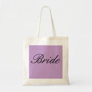 'Bride' Wedding Bridal Tote Purple Lavender