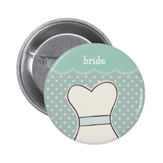 Bride -- Wedding dress // BLUE 2 Inch Round Button