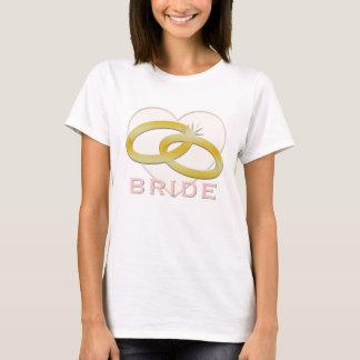 Bride Wedding Rings Heart Bachelorette Party T-Shirt