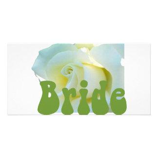 Bride White Rose design! Photo Card