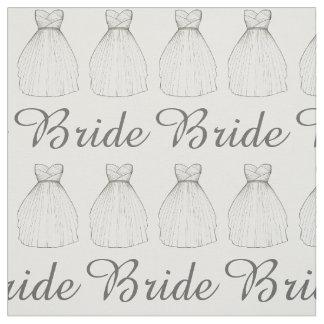 Bride White Wedding Dress Bridal Princess Gown Fabric