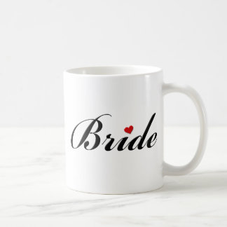 Bride with heart classic white coffee mug