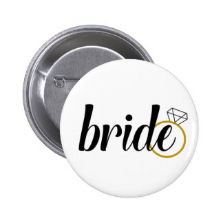 Bride with Ring 2 Inch Round Button