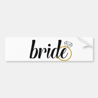 Bride with Ring Bumper Sticker