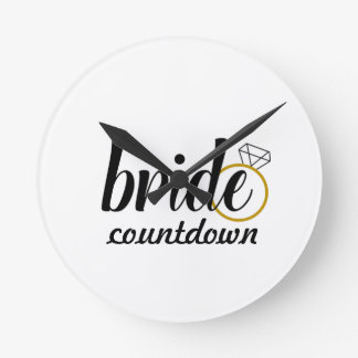 Bride with Ring Round Clock