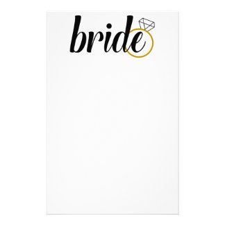Bride with Ring Stationery Paper
