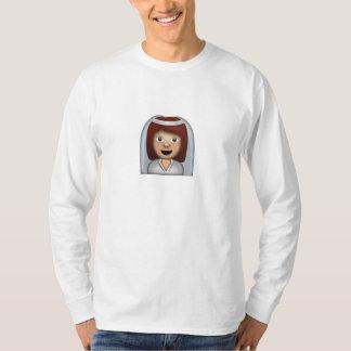 Bride With Veil Emoji T-Shirt