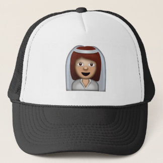 Bride With Veil Emoji Trucker Hat