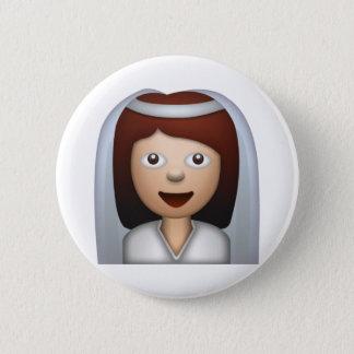 Bride With Veil Woman - Emoji 2 Inch Round Button