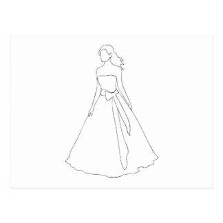 Bride With Wavy Hair Postcard