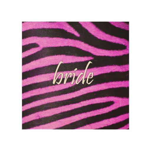 Bride Zebra Pattern 15x15.png Wood Print