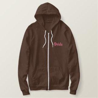 Bride Zip Hooded Sweatshirt - Customizable