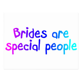 Brides Are Special People Postcard