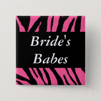 Brides Babes 2 Inch Square Button