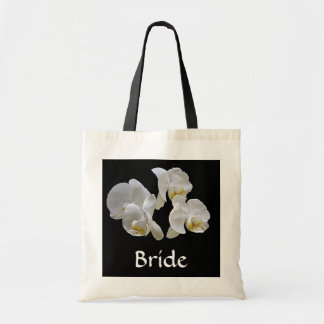 Bride's Bag with White Orchids on Black