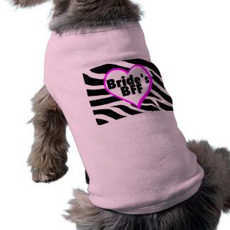 Brides BFF (Heart Zebra Print) Doggie Tshirt