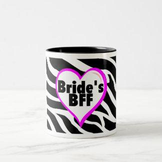 Brides BFF (Heart Zebra Print) Two-Tone Mug