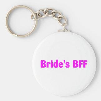Brides BFF (Pink) Basic Round Button Keychain