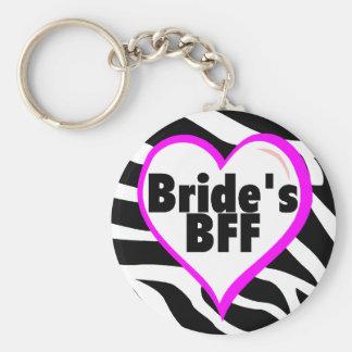 Brides BFF Zebra Stripes Keychain