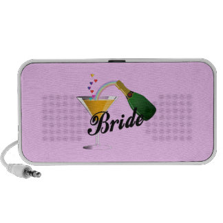 Brides Champagne Toast Travelling Speakers