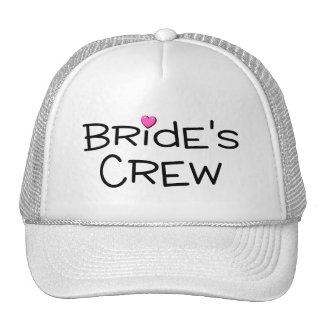 Brides Crew Pink Heart Mesh Hat