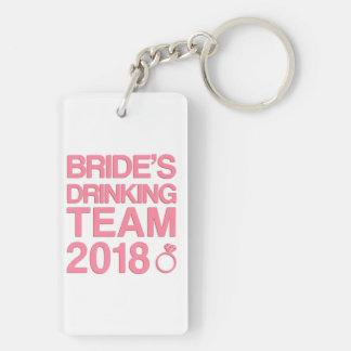 Bride's drinking team 2018 keychain